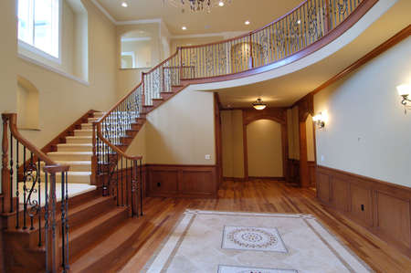 unfurnished:  Large staircase
