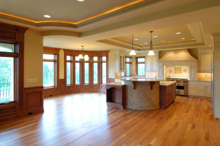 residential construction:  Open Kitchen                                Stock Photo