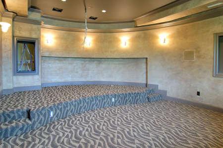 unfurnished:  unfurnished home theater                                Stock Photo