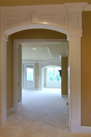 unfurnished: Entrance to Master Suite                                 Stock Photo