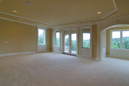 unfurnished: big open master room                                 Stock Photo
