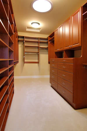Closet of large home                              Foto de archivo
