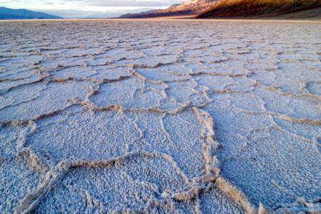 Bad Water Basin at Death Valley National Park in California Foto de archivo