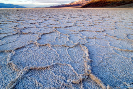 Bad Water Basin at Death Valley National Park in California Stock Photo