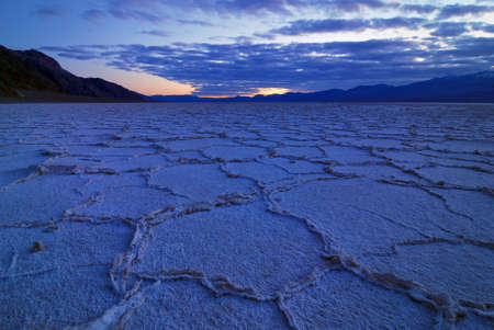 Bad Water Basin at Death Valley National Park in California photo