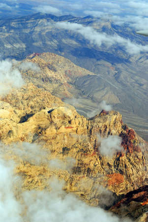Areial View of Red Rock Canyon near Las Vegas