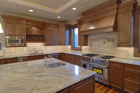 granite counter: New large American house