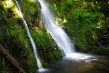Madison Falls in Olympic National Park in Washington State, USA photo