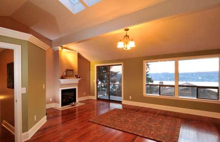 lighting: Living Room with Lake View