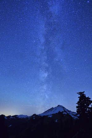 milky way: Melkweg op Mount Baker