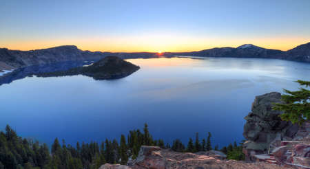 crater lake: Crater Lake Sunrise