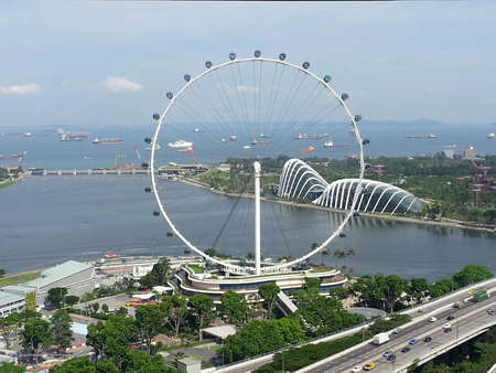 observation wheel: Singapore Flyer worlds largest Giant Observation Wheel Stock Photo