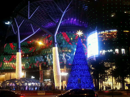 lightup: Orchard Road Singapore during Christmas light-up Stock Photo