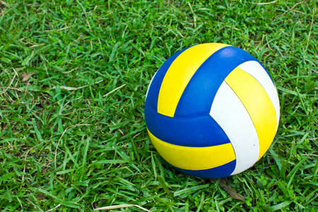 Volleyball on the field Stock Photo