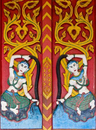 art on temple door