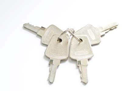 key isolated on white Stock Photo - 9829963