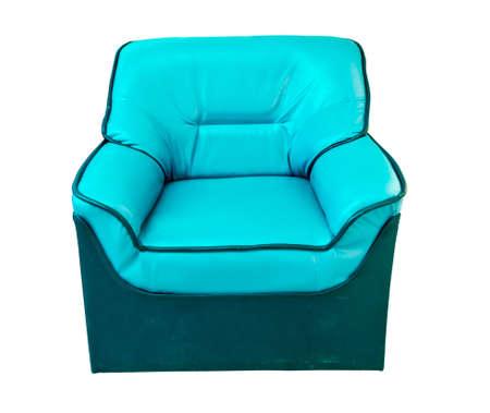 blue leather sofa: the blue leather sofa
