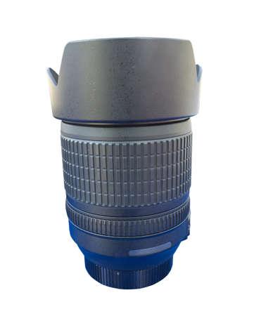 Objectif pour appareil photo reflex num�rique isol� sur fond blanc avec chemin de d�tourage