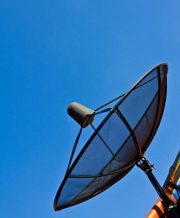satellite dish with blue sky in Thailand photo