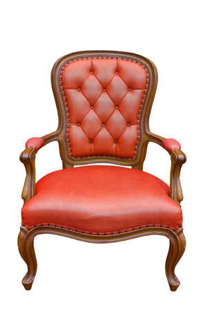 antique chair: luxury armchair isolated on the white background