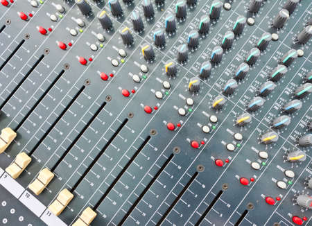 On a photo mixing desk. Close up photos photo