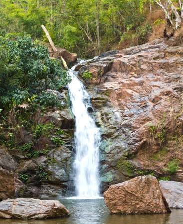 Tad Man waterfall in natural park, Thailand Stock Photo - 11983000