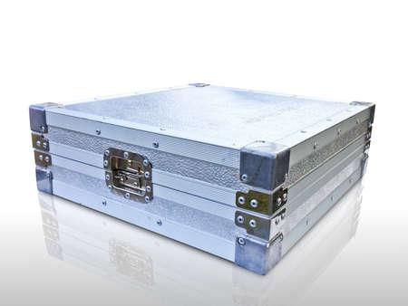 aluminum box on white background Stock Photo - 12077648