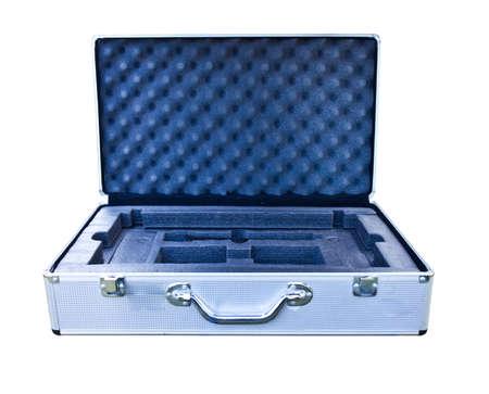 aluminum box on white background  photo