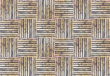 la texture vieux bambou tiss� pour le fond