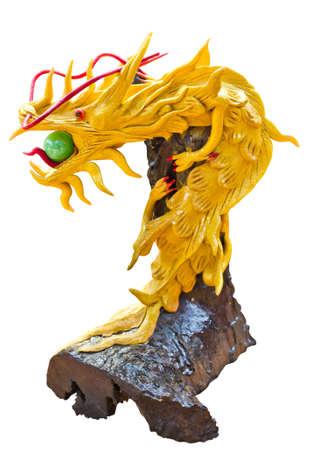 dragon statue in the temple isolated Stock Photo - 13082235