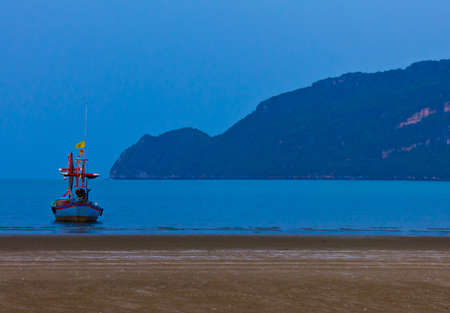 fishing boat at the sea in Thailand photo
