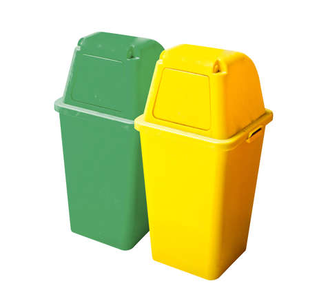 degradable: recycle bin on the white background Stock Photo