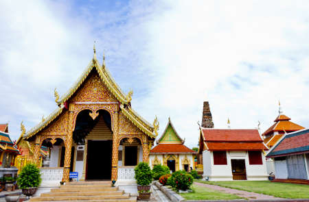 Wat phra that hariphunchai at Lamphun province, Thailand Stock Photo - 14217080