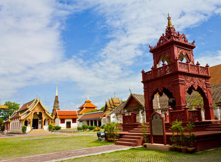 Wat phra that hariphunchai at Lamphun province, Thailand Stock Photo - 14217096