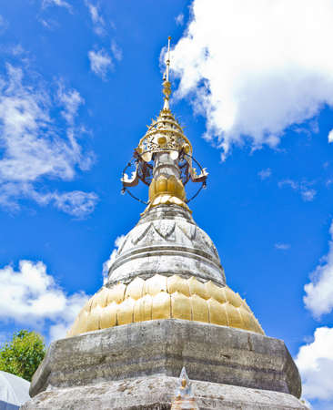 the pagoda in Phrae province of Thailand photo