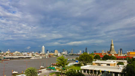 landscape of Chao Phra Ya river, Thailand photo