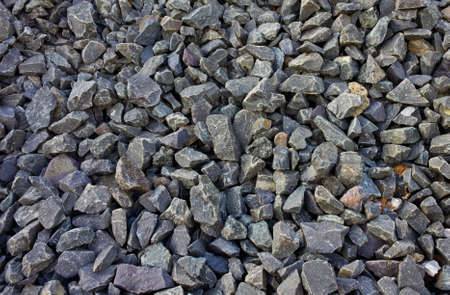 Closeup of many stones in the construction site  Stock Photo