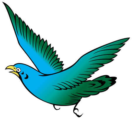 painting of a bird on the white background from illustrator