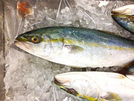 Le poisson frais sur la glace sur le march?, la Tha?lande Banque d'images