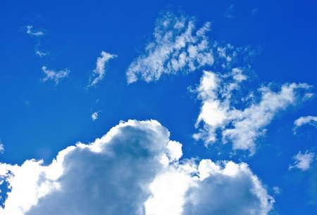 closeup of cloud with blue sky
