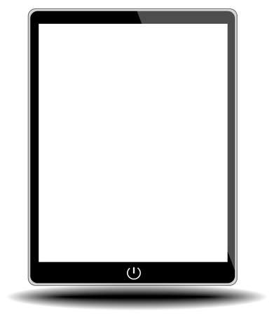 tablet pc on white background from illustrator