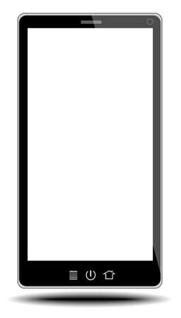 smart phone on white background from illustrator Stock Photo