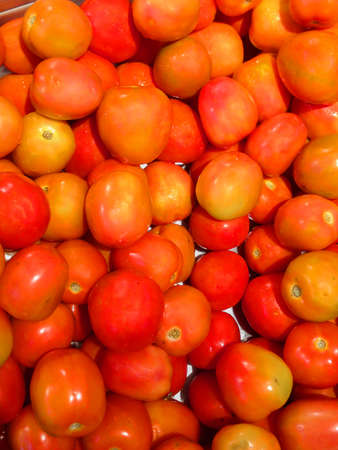 tomatoes on tray at the fresh market