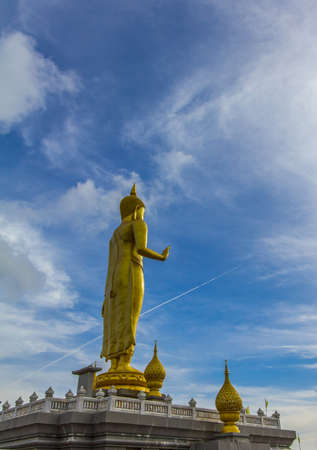 budha statue in the temple, Thailand Stock Photo