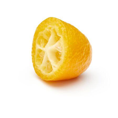 Kumquat Isolated on White Background 免版税图像
