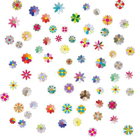 multitude: flores Vectores