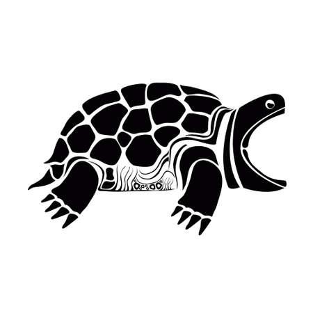 extremity: tortoiseshell sideview Illustration