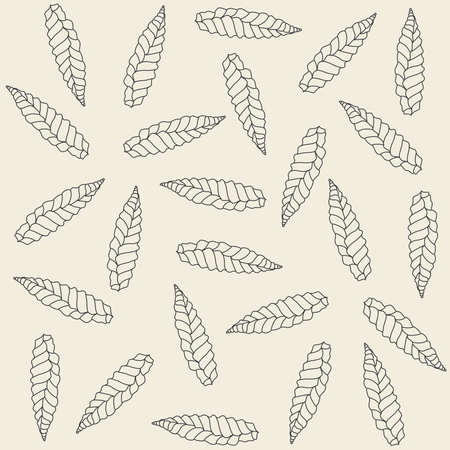 Decorative wallpaper ornament made of dry leaves Stock Vector - 4679396