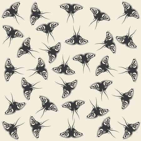 monophonic: Monophonic pattern made of butterflies