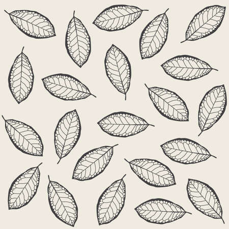 Pattern made of dry leaves Vector